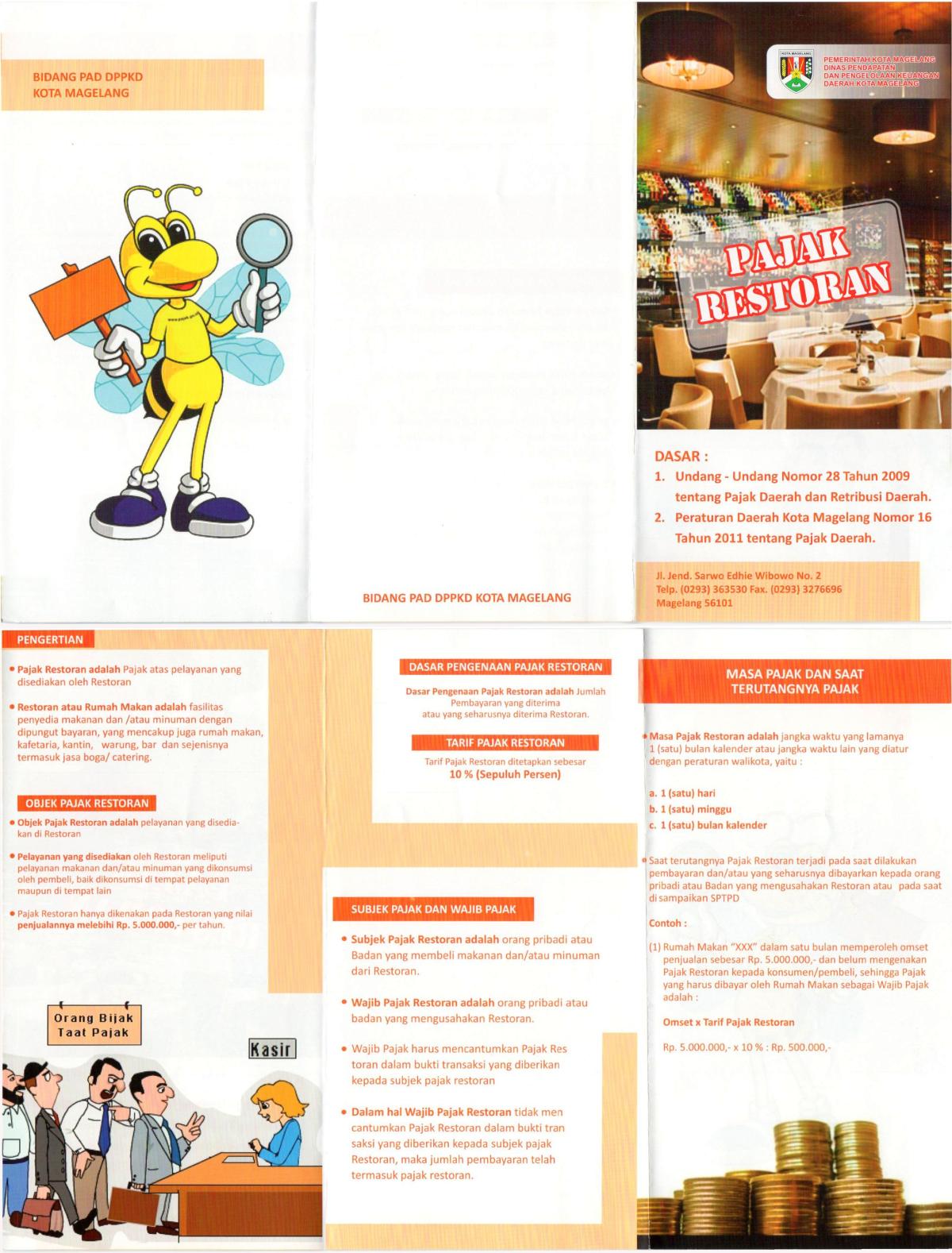 Pajak Restoran Bpkad Kota Magelang